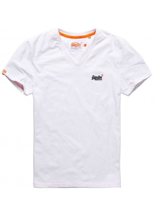Superdry Orange label vntge emb vee tee