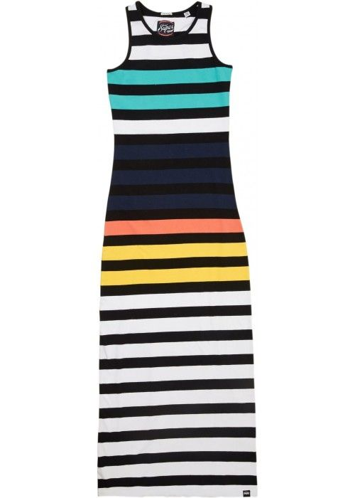 Superdry Core maxi stripe dress