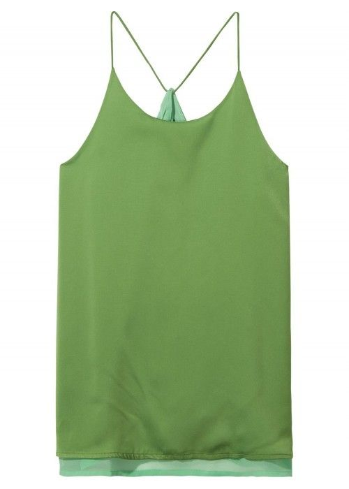 Maison Scotch Silky feel tank top with sheer