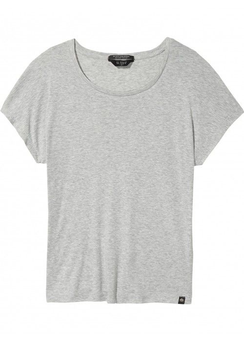 Maison Scotch Relaxed fit scoop neck tee