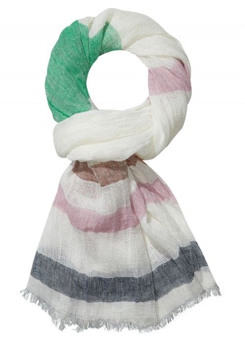 Maison Scotch Open weave summer scarf