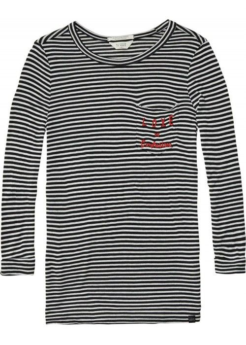 Maison Scotch Longsleeve basic tee with var