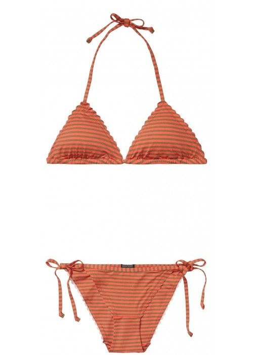 Maison Scotch Triangle bikini set with scall
