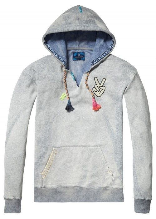 Scotch & Soda Surf hoodie in two-tone felpa