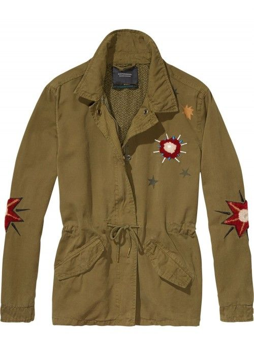 Maison Scotch Cool Army jacket with special