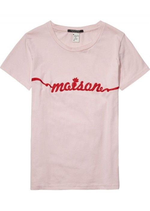 Maison Scotch Short sleeve tee with various