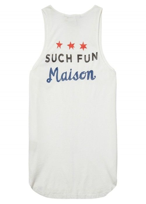 Maison Scotch Tank top with various graphics