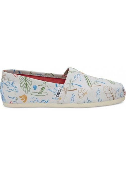 TOMS Shoes Grey multi surf city
