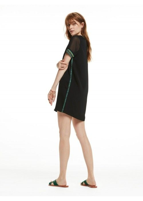 Maison Scotch Silky feel dress with sporty