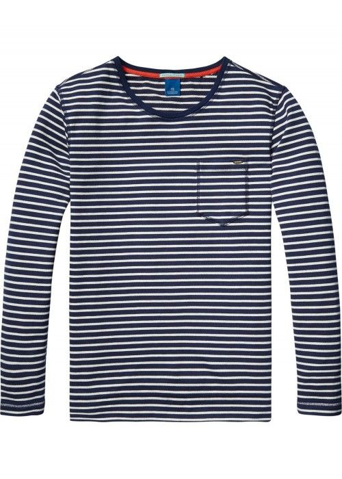 Scotch & Soda Classic crewneck sweat in beac
