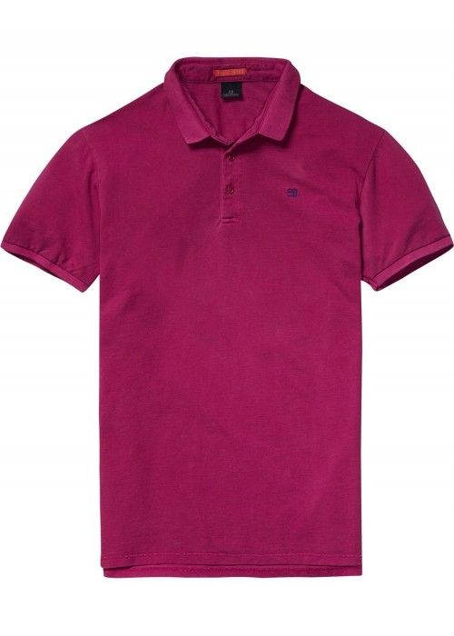 Scotch & Soda Garment dyed polo lightweight