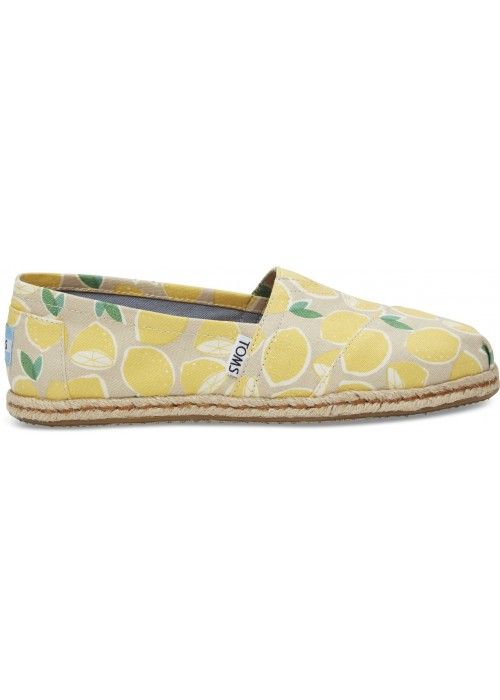 TOMS Shoes Yellow Lemons WM ALPR ESP