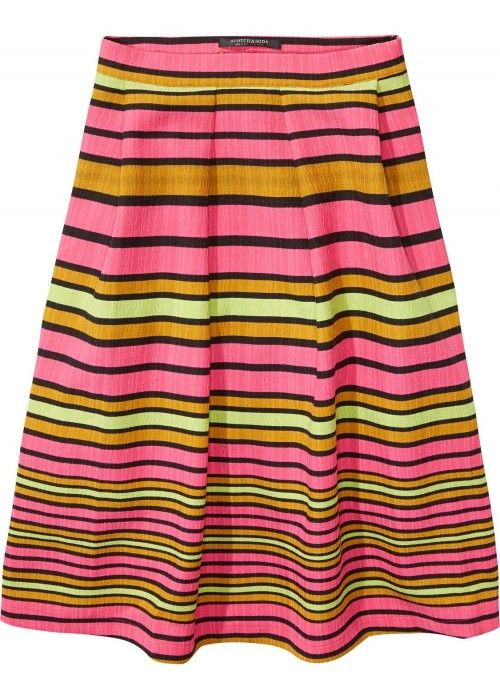 Maison Scotch Full midi skirt in solid