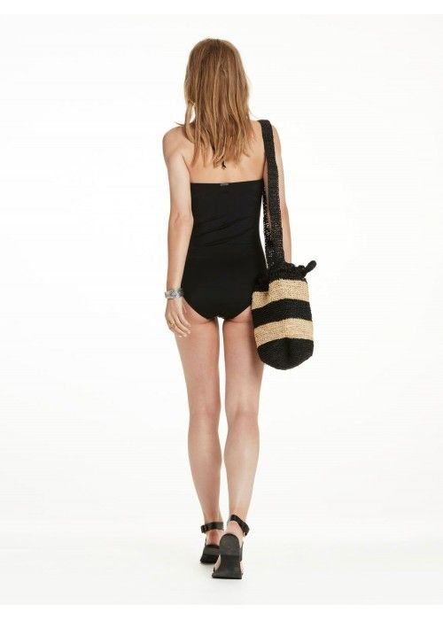 Maison Scotch One piece swimsuit wit scallop