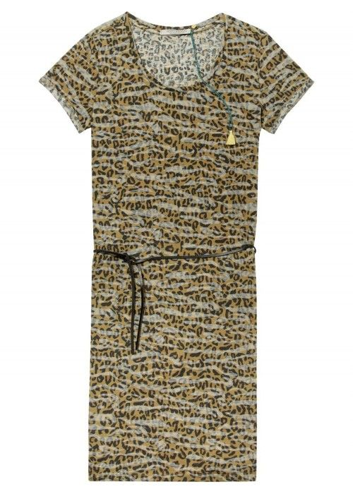Maison Scotch Straight fit printed tee dress