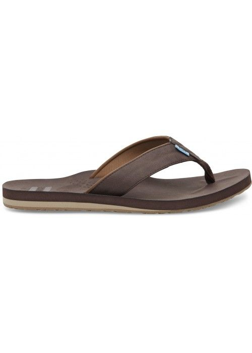 TOMS Shoes Chocolate Brown mn Carilo Flip