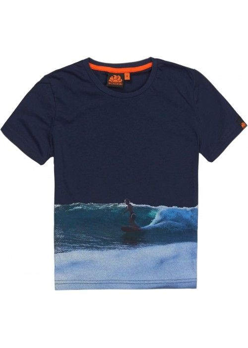 Sundek Mini Crew Neck Standing Surfer