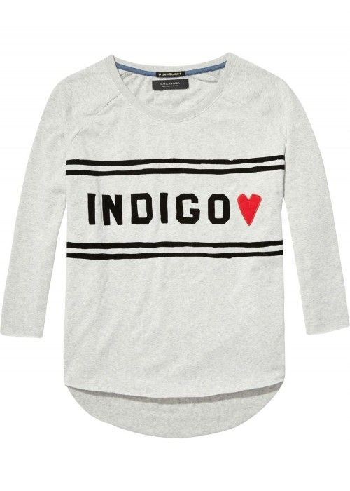 Maison Scotch Soft sweat with indigo chest