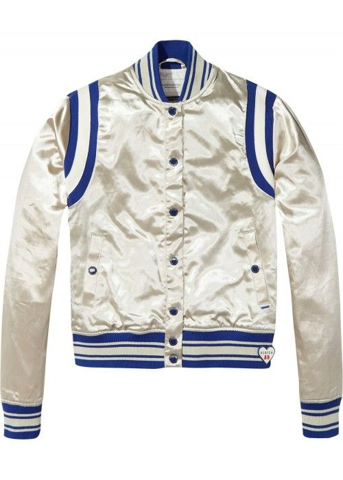 Maison Scotch Silky sporty bomber jacket