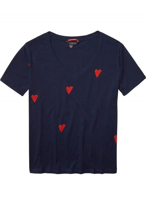 Maison Scotch S/S tee allover printed