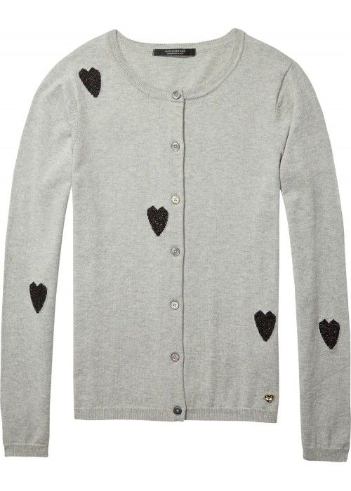 Maison Scotch Basic cardigan with intarsia