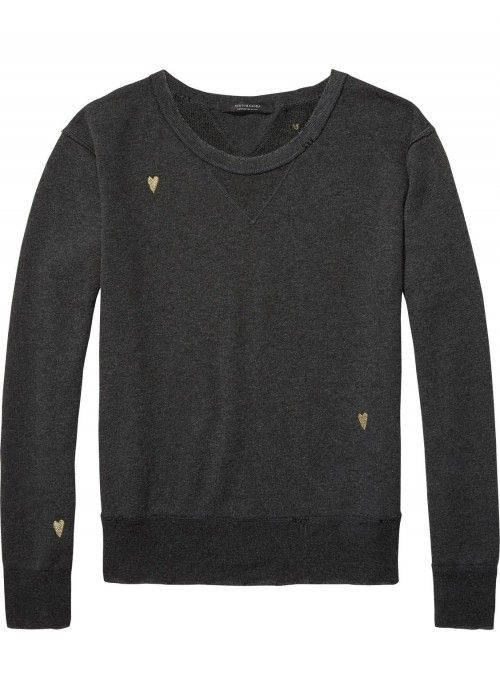 Maison Scotch Loose fitted sweat chest artwo