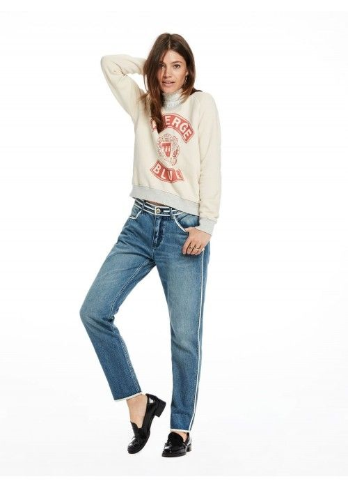 Maison Scotch Vintage inspired sweat woven
