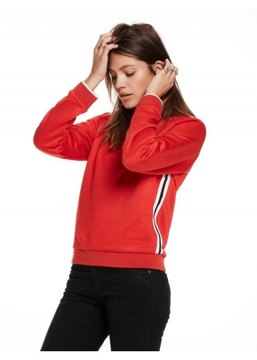 Maison Scotch Sporty sweat with stripe detai
