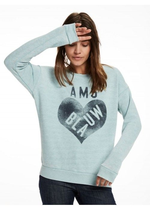 Maison Scotch Burnout sweat with artwork