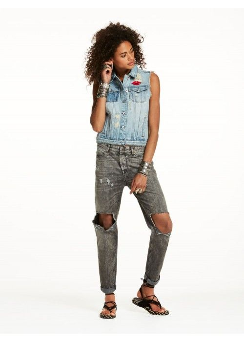 Maison Scotch Trucker Vest Jacket