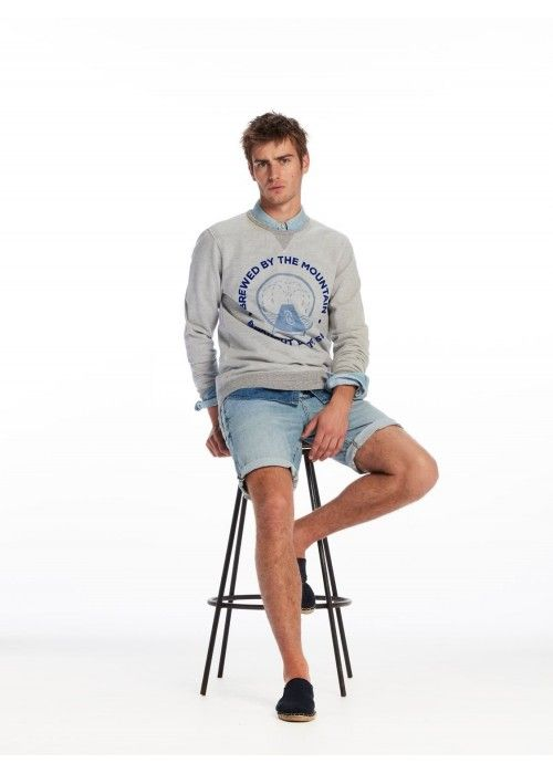 Scotch & Soda AMS Blauw Sweat
