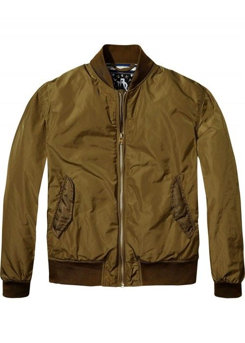 Maison Scotch Bomber with special rib on sle