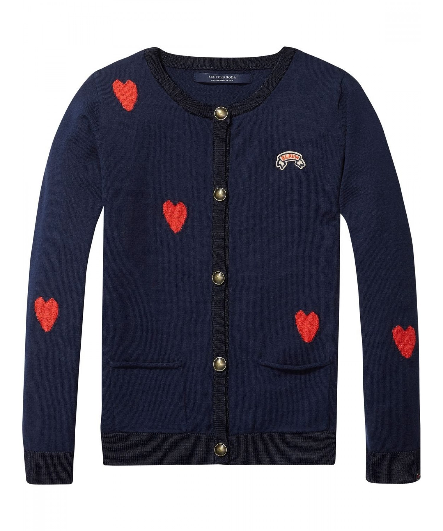 scotch rbelle heart intarsia cotton cardigan at eb vloed. Black Bedroom Furniture Sets. Home Design Ideas