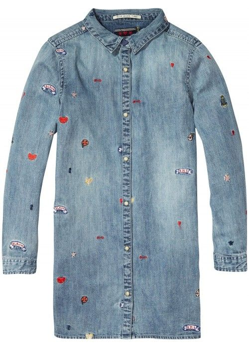 Scotch R'belle Shirt Dress Colored Embroideri