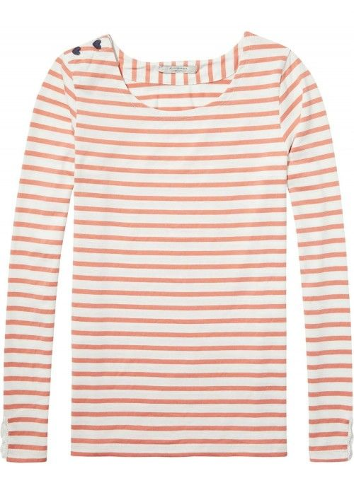 Maison Scotch Basic fit breton stripe L/S