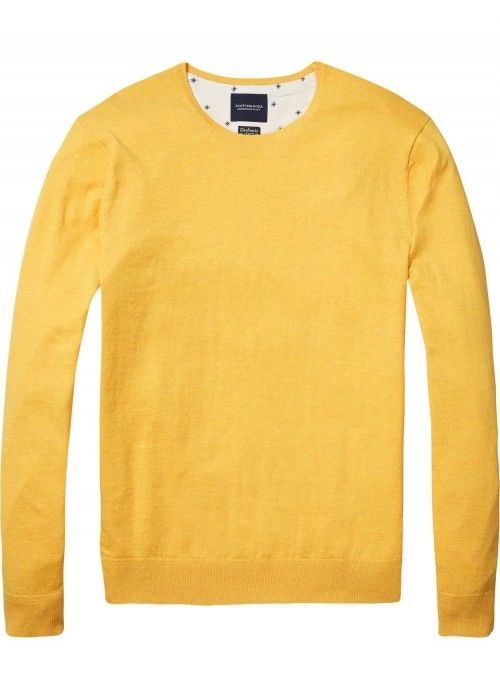 Scotch & Soda AMS Blauw Classic Crew Neck
