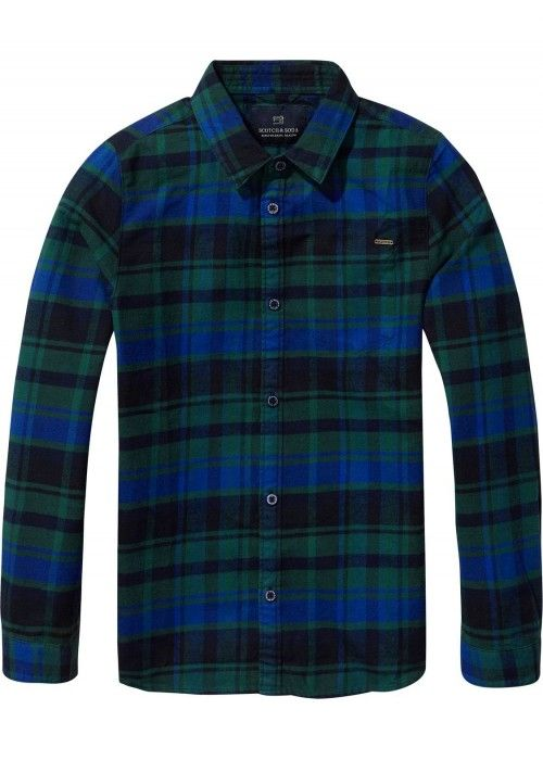 Scotch Shrunk Clean Coloured Checked Shirt