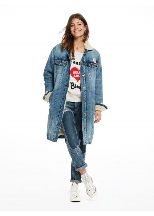 Maison Scotch Longer length trucker jacket