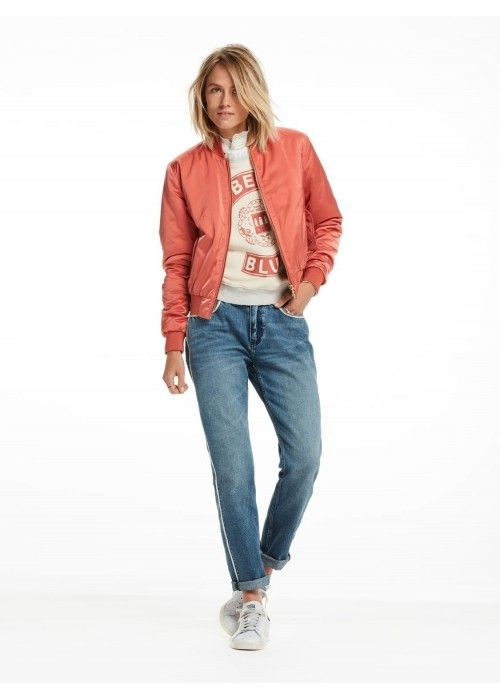 Maison Scotch Satin Bomber Jacket
