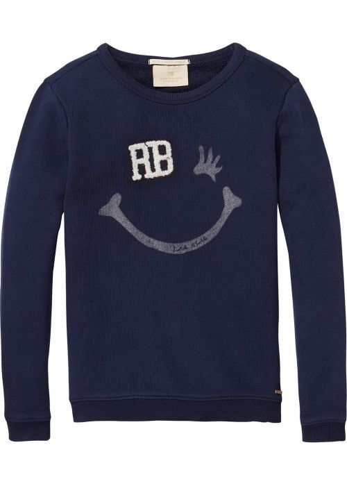 Scotch R'belle Crewneck With Signature Artwor