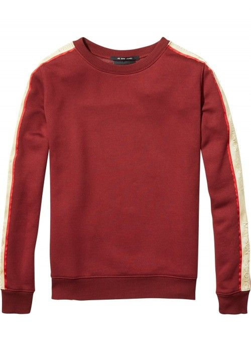 Maison Scotch Sport inspired sweat contrast