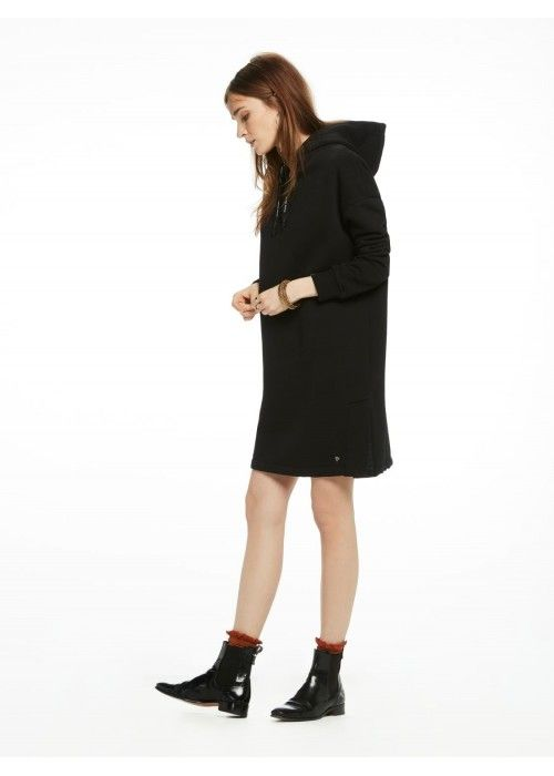 Maison Scotch Hooded oversized sweat dress
