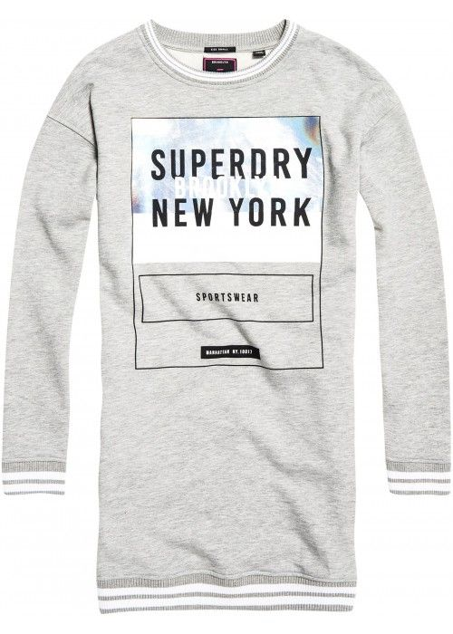 Superdry Tipped Rib Sweat Dress