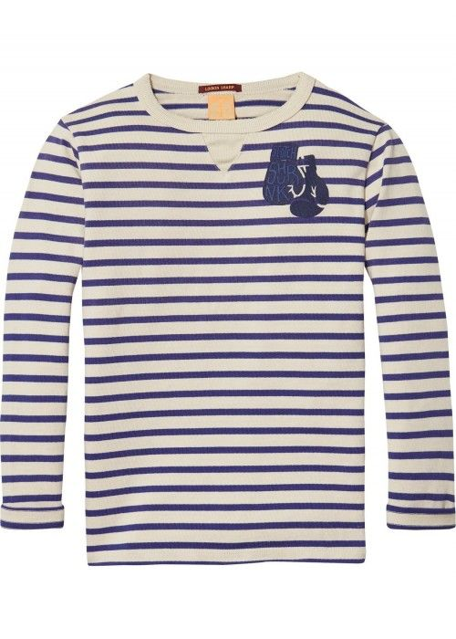 Scotch Shrunk Breton Stripe Longsleeve Tee