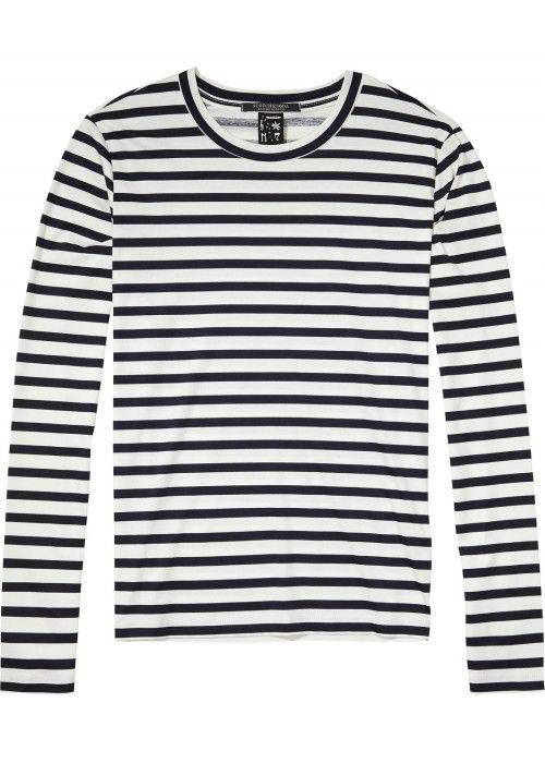 Maison Scotch L/S Tee In Clean Quality