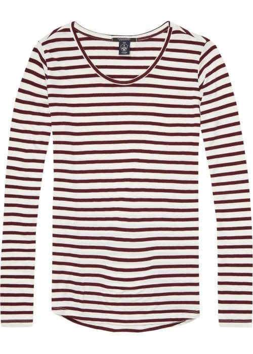 Maison Scotch Basic L/S tee in stripes
