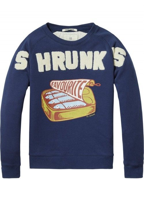 Scotch Shrunk Crewneck With Worked Out Coll