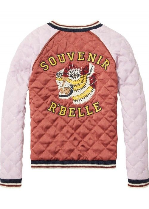 Scotch R'belle Quilted 2-Tone Bomber Jacket