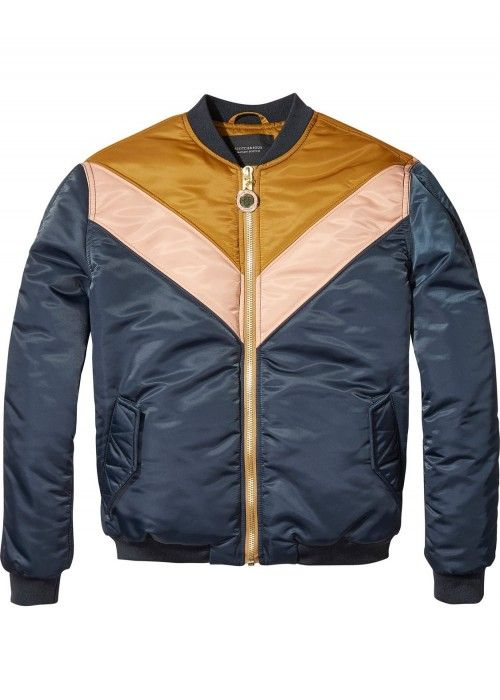 Maison Scotch Colour blocked padded jacket