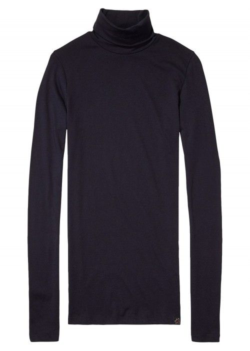 Maison Scotch Long Sleeve Fitted Turtle Neck